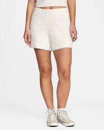 0 Cabin Fever Knit Short White AVJWH00103 RVCA