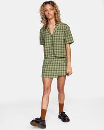 4 Going Out Mini Skirt Green AVJWK00104 RVCA