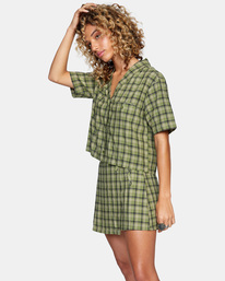 5 Going Out Mini Skirt Green AVJWK00104 RVCA