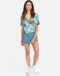 9 Vacay Button-Down Top Brown AVJWT00136 RVCA
