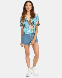 4 Vacay Button-Down Top Brown AVJWT00136 RVCA