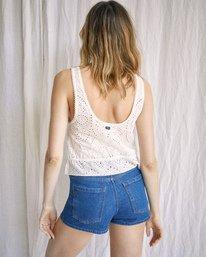 3 Camille Rowe | Mia Crop Top White AVJWT00144 RVCA