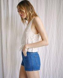 5 Camille Rowe | Mia Crop Top White AVJWT00144 RVCA