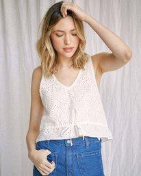 6 Camille Rowe | Mia Crop Top White AVJWT00144 RVCA