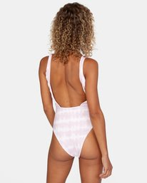 1 Live And Let Dye Printed Cheeky One Piece Swimsuit Purple AVJX100107 RVCA