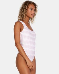 3 Live And Let Dye Printed Cheeky One Piece Swimsuit Purple AVJX100107 RVCA