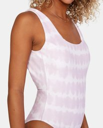 4 Live And Let Dye Printed Cheeky One Piece Swimsuit Purple AVJX100107 RVCA