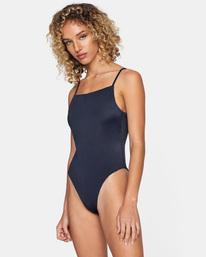 2 Flow Check Reversible Cheeky Crisscross One Piece Swimsuit White AVJX100114 RVCA