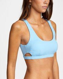 4 Solid Scoop Neck Bralette Bikini Top Black AVJX300116 RVCA