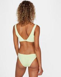 2 Solid Scoop Neck Bralette Bikini Top Green AVJX300116 RVCA