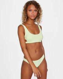 1 Solid Scoop Neck Bralette Bikini Top Green AVJX300116 RVCA