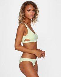 4 Solid Scoop Neck Bralette Bikini Top Green AVJX300116 RVCA