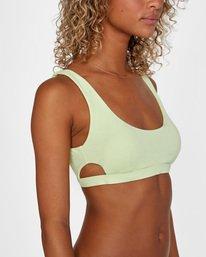 6 Solid Scoop Neck Bralette Bikini Top Green AVJX300116 RVCA