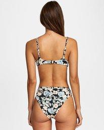 1 Spring Bound Printed Spaghetti Strap Bralette Bikini Top White AVJX300125 RVCA