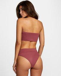 1 Solid Bandeau Removable Strap Bikini Top Purple AVJX300127 RVCA