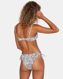 1 Animal Instincts Printed Slider Strap Trilette Bikini Top White AVJX300132 RVCA