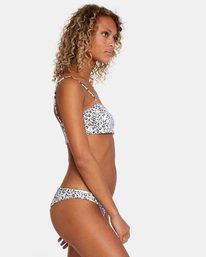 3 Animal Instincts Printed Spaghetti Strap Bandeau Bikini Top White AVJX300142 RVCA