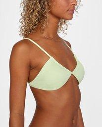 4 Solid Multi-Way Trilette Bikini Top Green AVJX300163 RVCA