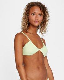 5 Solid Multi-Way Trilette Bikini Top Green AVJX300163 RVCA