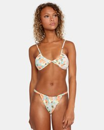 1 On The Road Printed Multi-Way Trilette Bikini Top Brown AVJX300164 RVCA
