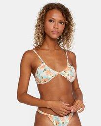 6 On The Road Printed Multi-Way Trilette Bikini Top Brown AVJX300164 RVCA