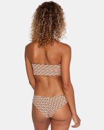 3 Cosmic Way Printed Removable Strap Bandeau Bikini Top White AVJX300167 RVCA
