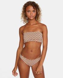 2 Cosmic Way Printed Removable Strap Bandeau Bikini Top White AVJX300167 RVCA