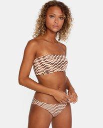 5 Cosmic Way Printed Removable Strap Bandeau Bikini Top White AVJX300167 RVCA