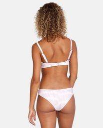 3 Live And Let Dye Printed Slider Strap Bralette Bikini Top Purple AVJX300169 RVCA