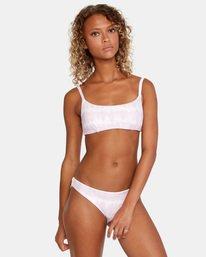 2 Live And Let Dye Printed Slider Strap Bralette Bikini Top Purple AVJX300169 RVCA