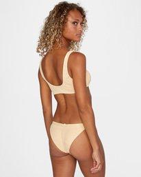 3 Run Wild Printed Scoop Neck Bralette Bikini Top Red AVJX300172 RVCA