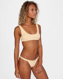 5 Run Wild Printed Scoop Neck Bralette Bikini Top Red AVJX300172 RVCA
