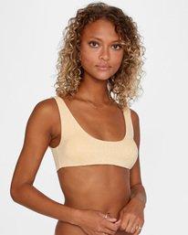 7 Run Wild Printed Scoop Neck Bralette Bikini Top Red AVJX300172 RVCA