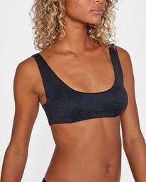5 Run Wild Printed Scoop Neck Bralette Bikini Top White AVJX300172 RVCA