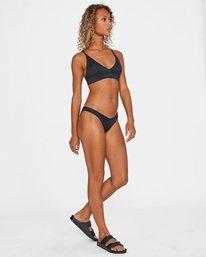 2 Run Wild Printed Crossback Tie Strap Bikini Top White AVJX300173 RVCA