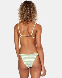 1 Ziggy Printed Crossback Slider Strap Triangle Bikini Top White AVJX300180 RVCA