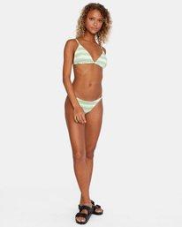 2 Ziggy Printed Crossback Slider Strap Triangle Bikini Top White AVJX300180 RVCA