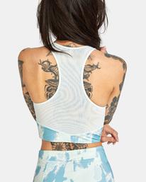 5 Wavelength Printed Zip Top Racerback Bikini Top Blue AVJX300183 RVCA