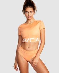 0 Wilder Cropped Swim Tee Orange AVJX300184 RVCA