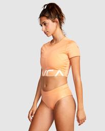 2 Wilder Cropped Swim Tee Orange AVJX300184 RVCA