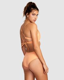 1 Wilder Solid Crossback Tie Bikini Top Orange AVJX300185 RVCA