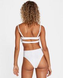 3 La Jolla Textured Bandeau Bralette Removable Strap Bikini Top White AVJX300186 RVCA
