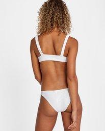 2 La Jolla Textured Tie Front Bikini Top White AVJX300187 RVCA