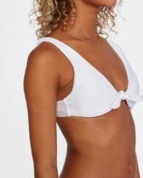5 La Jolla Textured Tie Front Bikini Top White AVJX300187 RVCA