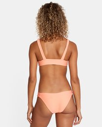 3 La Jolla Textured Tie Front Bikini Top Orange AVJX300187 RVCA