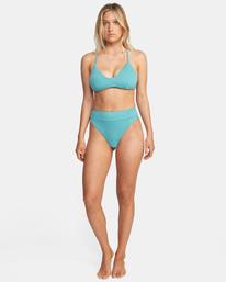 2 Solid Crossback Tie D-Cup Bikini Top Green AVJX300198 RVCA