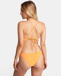 1 Solid Crossback Tie D-Cup Bikini Top Orange AVJX300198 RVCA