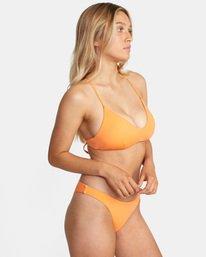 4 Solid Crossback Tie D-Cup Bikini Top Orange AVJX300198 RVCA