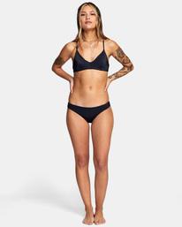 3 Solid Crossback Tie Bikini Top Black AVJX300199 RVCA