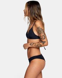 4 Solid Crossback Tie Bikini Top Black AVJX300199 RVCA